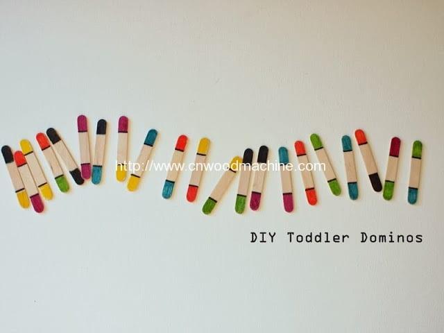 DIY Toddler Craft Stick Dominos 1