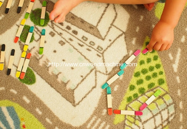 DIY Toddler Craft Stick Dominos 4