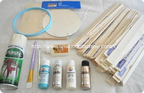 How to Make a (Paint Stir Stick) Sunburst Mirror