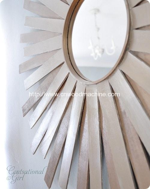 Paint Stick Sunburst Mirror 8