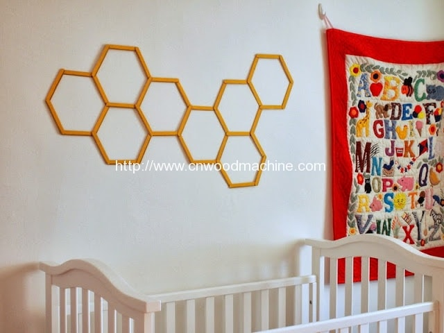 honeycomb popsicle wall art 1
