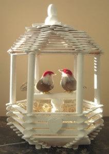 Wood Sticks Love Bird House