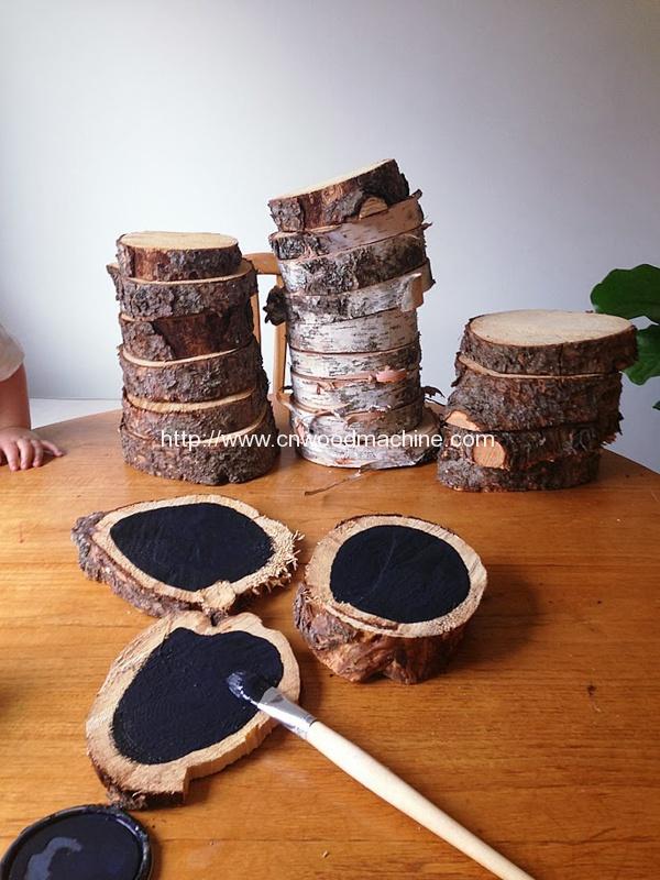 Wood Slice Chalkboards from Little House