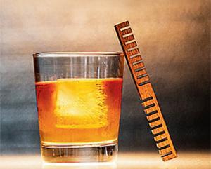 Wooden stick makes whiskey taste good