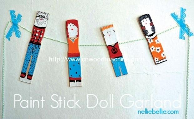 Paint Stick Doll Garland 2