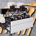 Automatic Four Station CNC Bamboo Cutlery Making Machine