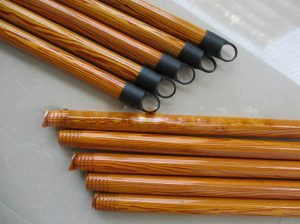 Wooden Mop Stick Handle Tube Film Inserting and Shrinking Machine